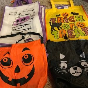 Bundle Halloween Trick Or Treat Bags NWT